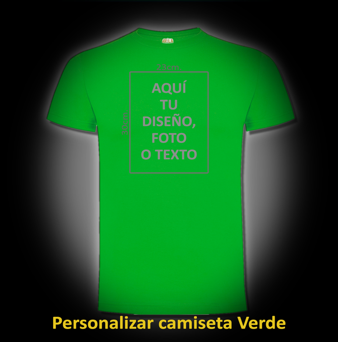 Personalizar camiseta Verde