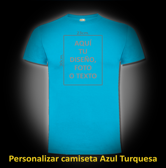 Personalizar camiseta Azul Turquesa