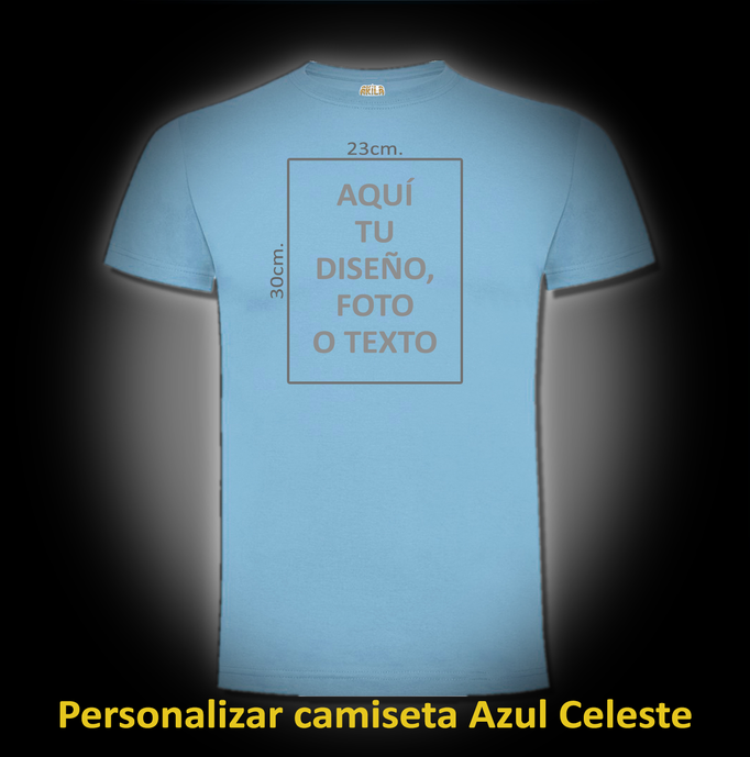 Personalizar camiseta Azul Celeste