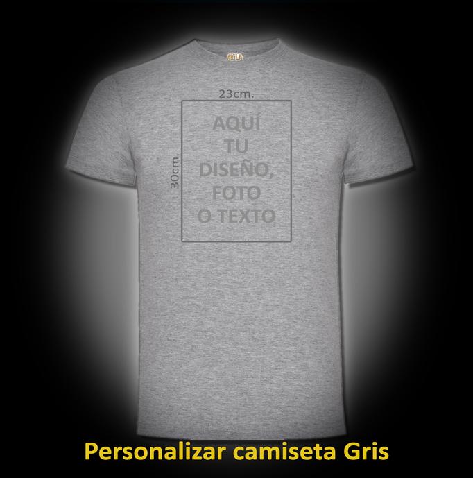 Personalizar camiseta Gris