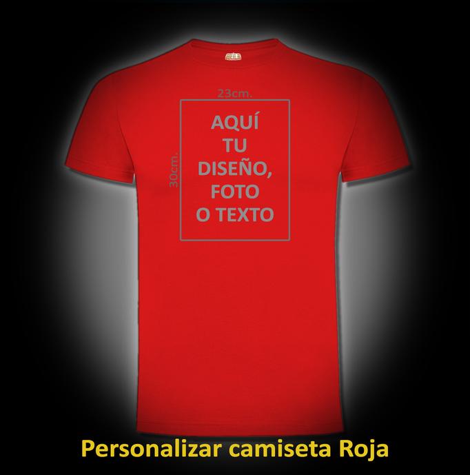 Personalizar camiseta Roja