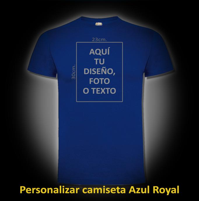 Personalizar camiseta Azul Royal