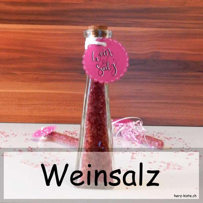 Weinsalz selbermachen - ein tolles Gastgeschenk mit tollen Etiketten als gratis Printable