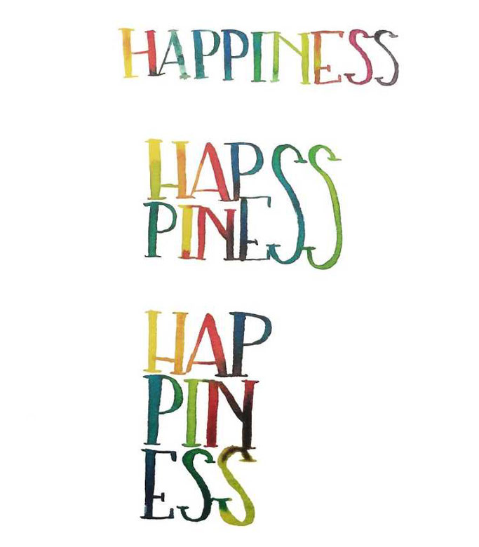 Letter Lovers buchstabenprinzessin: Handlettering Anleitung Watercolorlettering Happiness