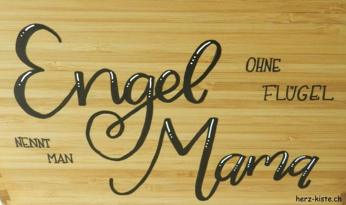 Handlettering für den Muttertag: Engel ohne Flügel nennt man Mama
