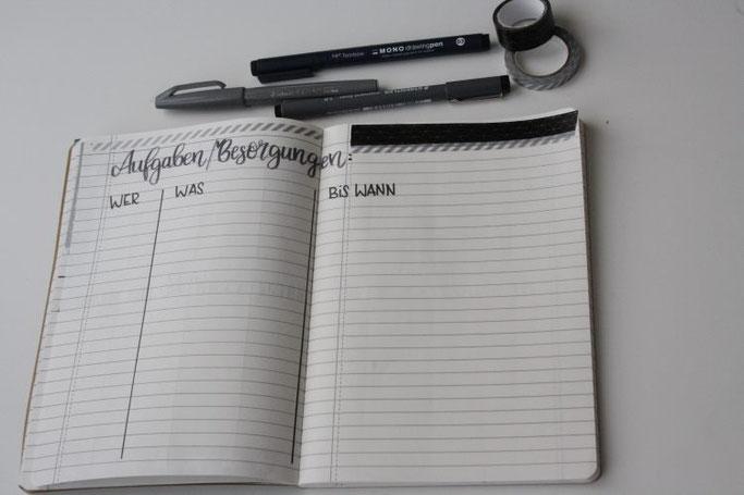 DIY Weihnachtsplanner mit Lettering - Aufgaben und Besorgungen
