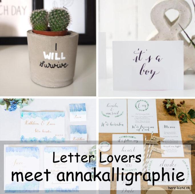Letter Lovers: annakalligraphie ist zu Gast