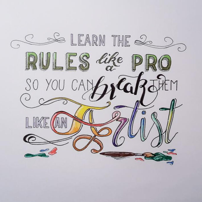 Letter Lovers _conny_k_: Handlettering learn the rules like a pro so you can break them like an artist