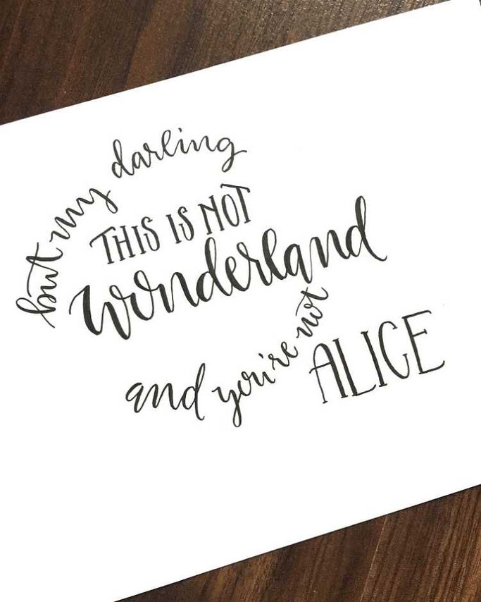 Letter Lovers Charmingletters: Handlettering  this is not wonderland