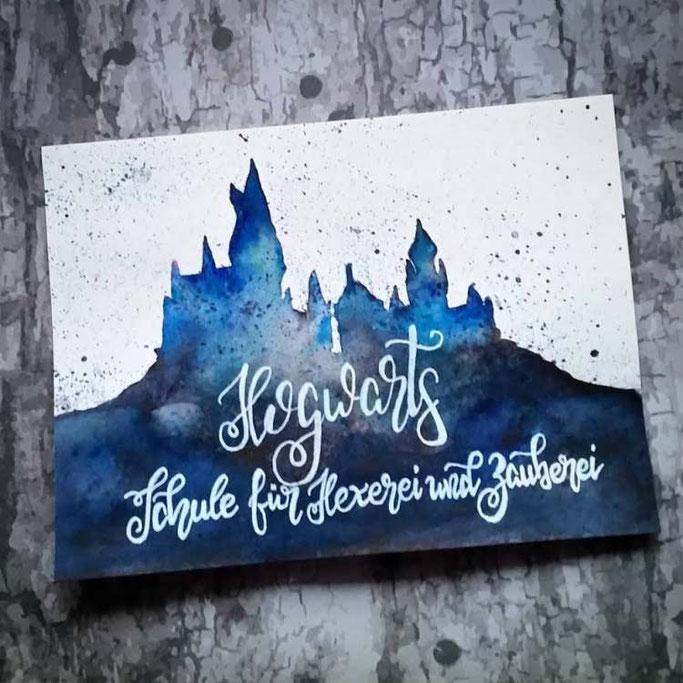 Letter Lovers nanoujess_creative: Handlettering Hogwarts - Schule für Hexerei und Zauberei