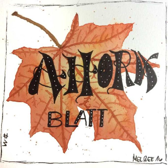Letter Lovers aponi72: Handlettering Ahornblatt