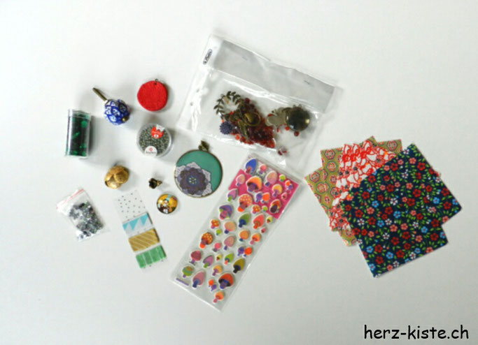 Upcycling Projekt - Inhalt vom Paket Teil 2