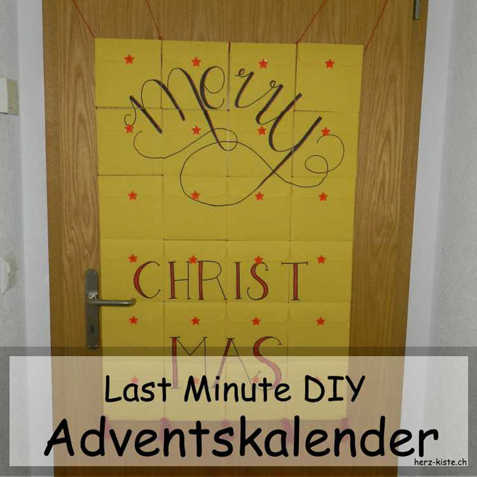 DIY Adventskalender Last Minute - aus Briefumschlägen