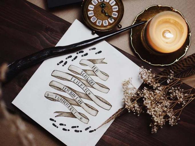 Letter Lovers vierneuntel: Handlettering Spruch ich bin ein Tunichtgut