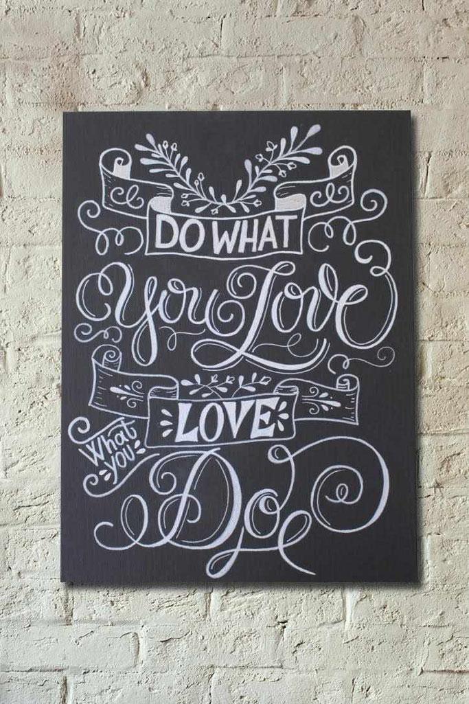 Letter Lovers sandra_graphics: Lettering Anleitung für ein Chalk Lettering auf Leinwand