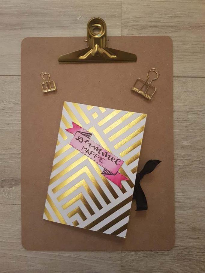 Einfache Anleitung für eine DIY Sammelmappe aus Briefumschlägen - Tutorial zum selber nach basteln! Letter Lovers mrs.b.letters