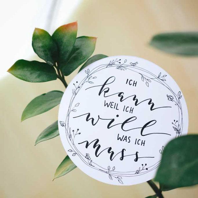 Letter Lovers buntgepinselt: Handlettering: Ich kann weil ich will was ich muss