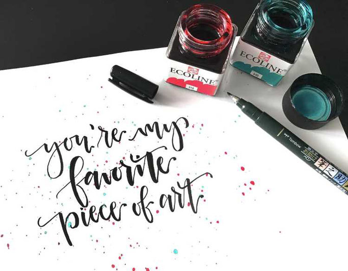 Letter Lovers Charmingletters: Handlettering my favorite piece of art