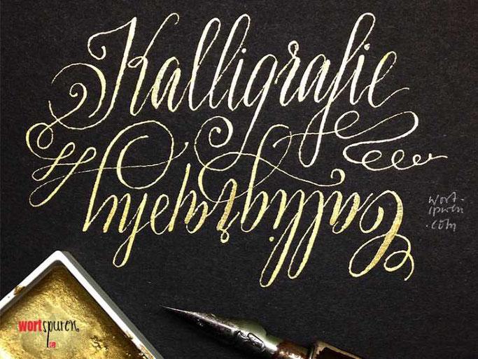 Letter Lovers Wortspuren: Handlettering Kalligraphie