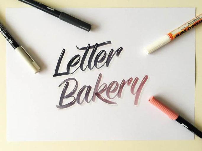 Letter Lovers _annalala_: Anleitung Farbverlauf Letter Bakery mit Schatten und Highlights