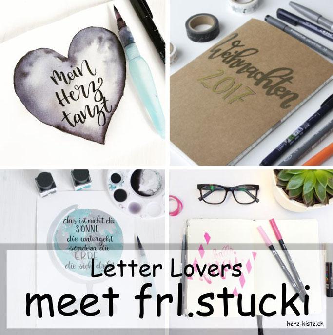 Letter Lovers: frl.stucki zu Gast mit einer Anleitung für einen selbstgemachten Weihnachtsplanner - so kommst du mit Lettering und ohne Stress durch die Weihnachtszeit