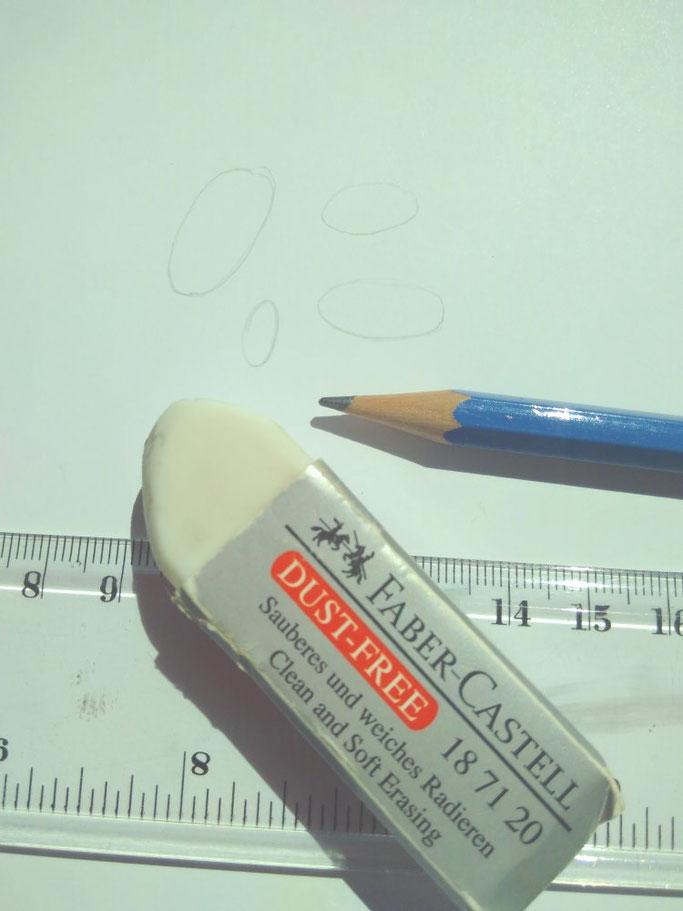 Buchstabenskizze für Kaugummi Buchstaben - Lettering Anleitung bei den Letter Lovers von Schriftspielerei