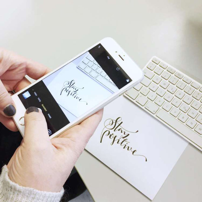 Lettering digitalisieren mit der App Snapseed