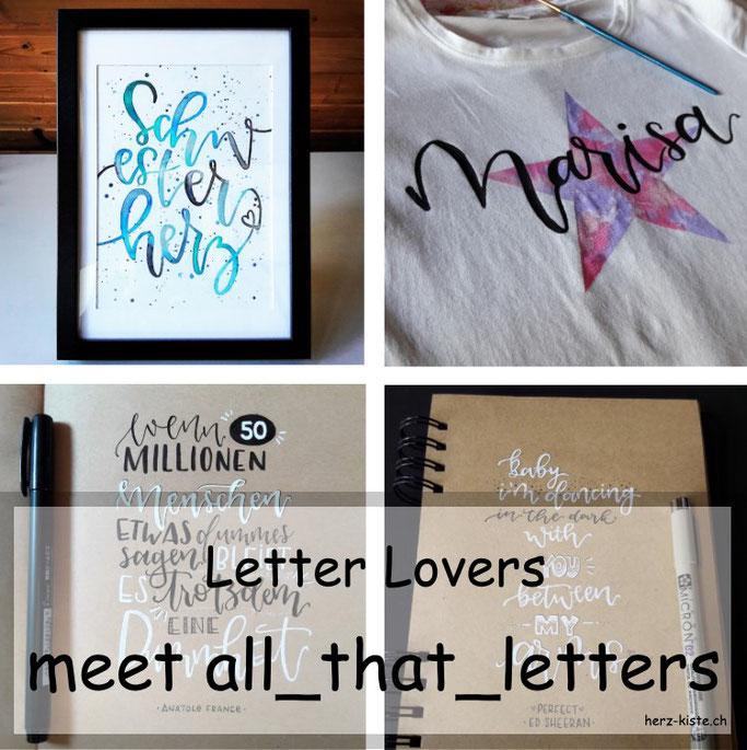Letter Lovers: all_that_letters zu Gast im Handlettering Interview mit einer Anleitung für T-Shirt-Lettering