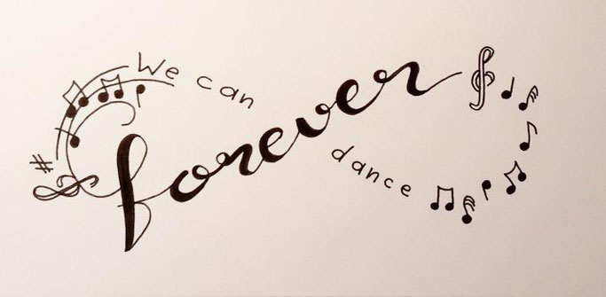 Letter Lovers _conny_k_: Handlettering we can dance forever - Anordnung richtig