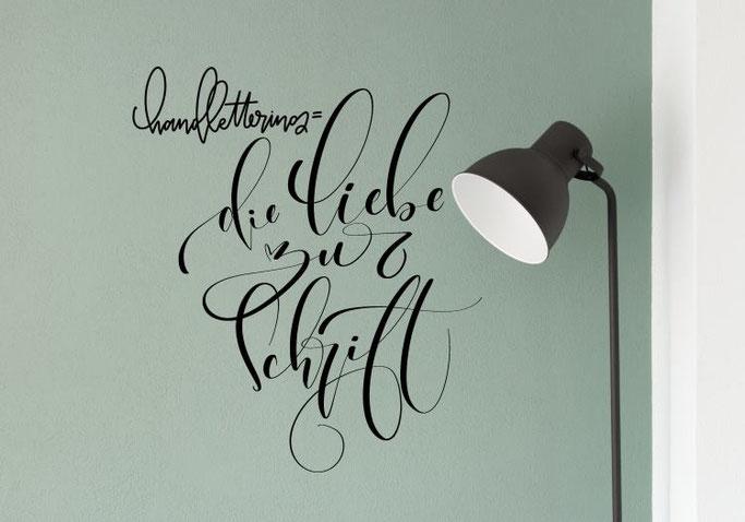 Handlettering = die Liebe zur Schrift - ein Wandtattoo von mel_lettering bei den Letter Lovers