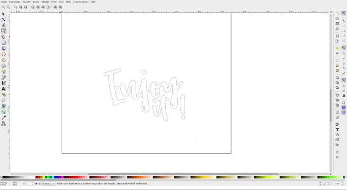 Tutorial: Wie du ganz einfach mit der gratis Software Inkscape dein Lettering vektorisieren kannst - Umriss anzeigen