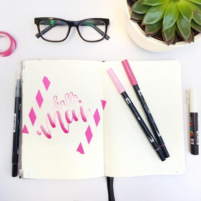 Hallo Mai Lettering (Letter Lovers frl.stucki)