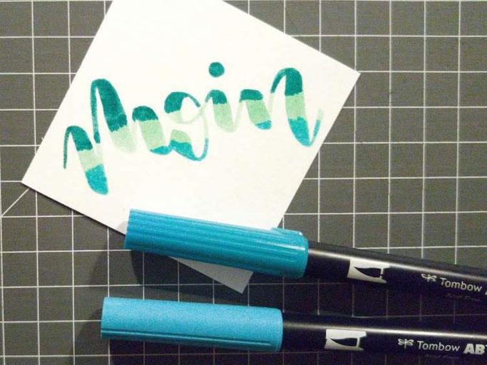 Letter Lovers kvittje: Anleitung zum Blending mit Brushpens - Schritt 2 weitere Farben