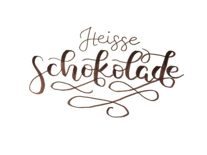 Letter Lovers buchstabenprinzessin: Handlettering Heisse Schokolade
