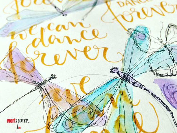 Letter Lovers Wortspuren: Handlettering Schmierpapier