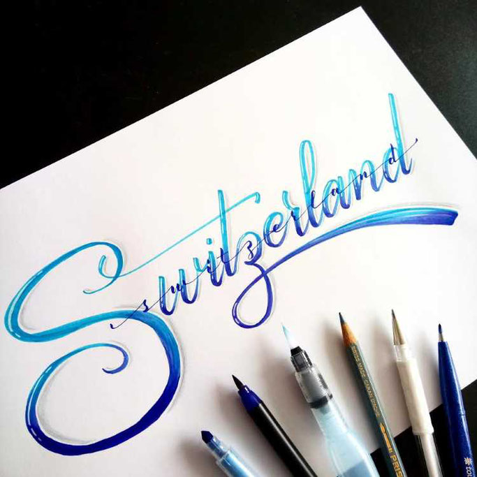 Letter Lovers frauleinausten: Handlettering Switzerland