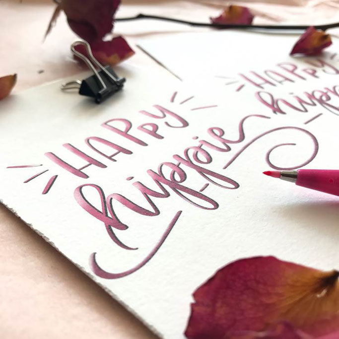Letter Lovers wildhippiecom: Handlettering Happy hippie