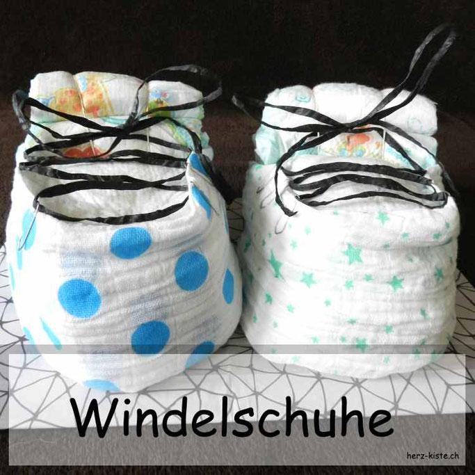 Windelschuhe - Geburtsgeschenk für Zwillinge