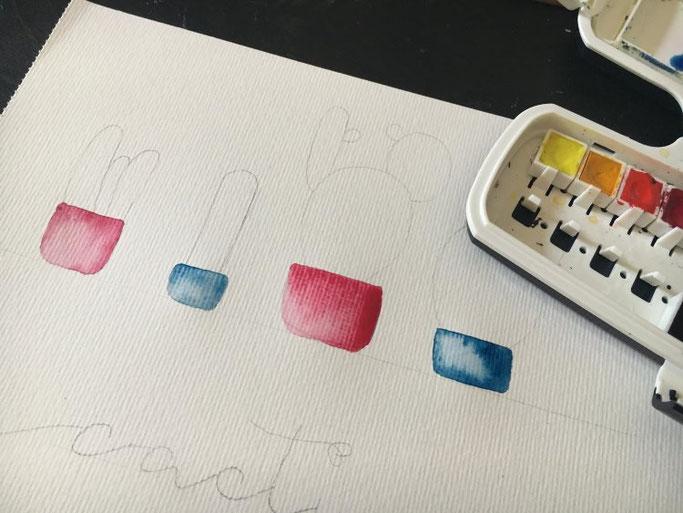 Watercolor Kaktus - Anleitung um selber Kakteen zu malen (Letter Lovers herzimbauch)