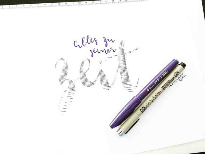Letter Lovers mamsi.lila: Handlettering Quote alles zu seiner Zeit