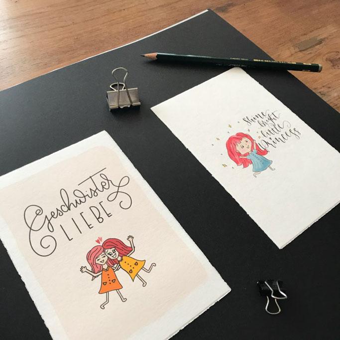 Letter Lovers wildhippiecom: selbstgeletterte und kreierte Postkarten
