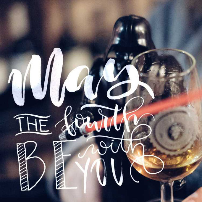 Letter Lovers buntgepinselt: Handlettering - may the fourth be with you