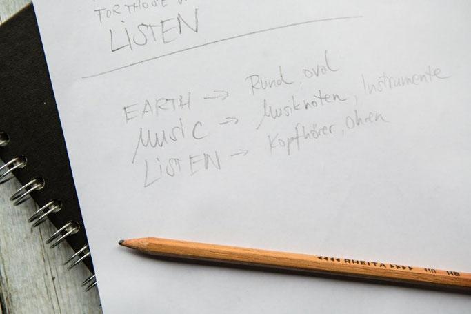 Letter Lovers photo.aloha: Anleitung Zitate lettern mit Mini-Skizzen - Schritt 3: Assoziationen