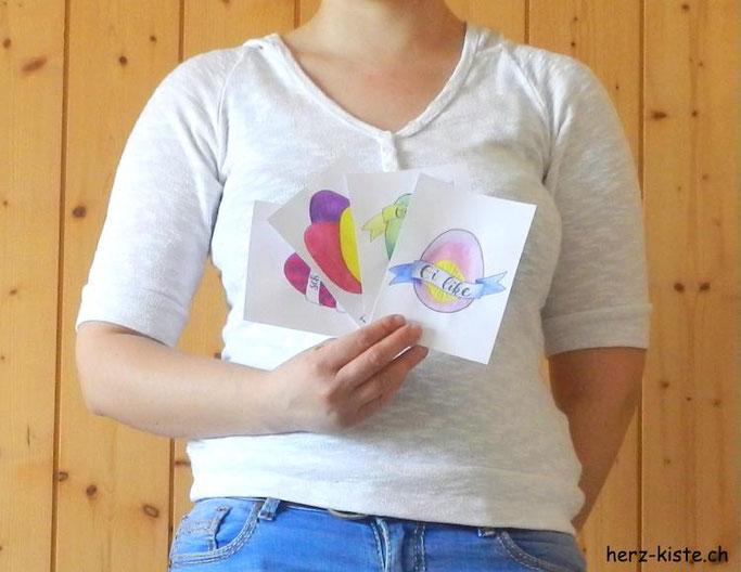 DIY Osterkarten im Handlettering Stil: Free Printable zum ausdrucken