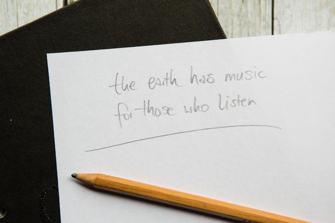 Letter Lovers photo.aloha: Anleitung Zitate lettern mit Mini-Skizzen - Schritt 1: Zitat auswählen