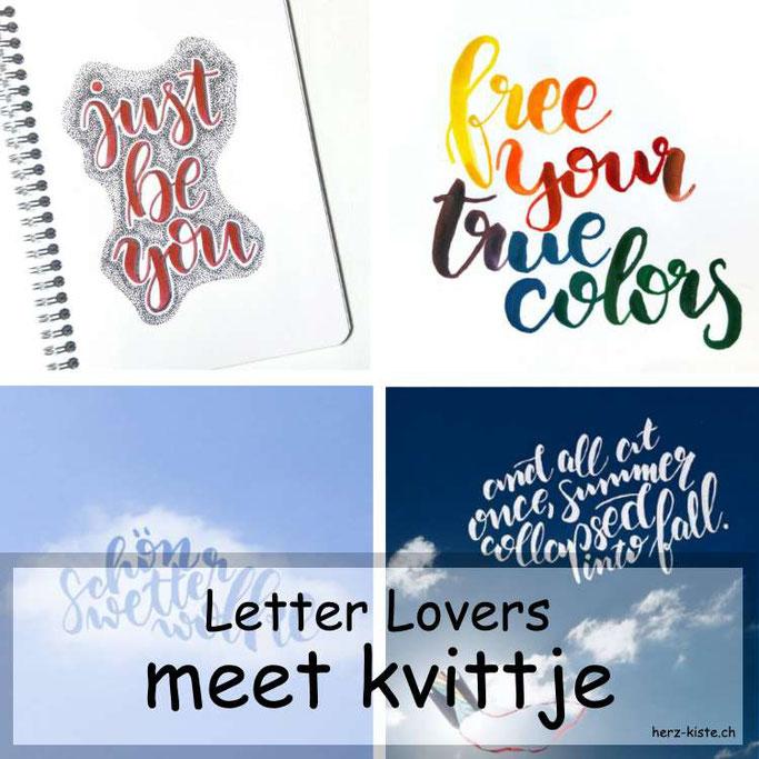 Letter Lovers in der Herz-Kiste: kvittje zu Gast