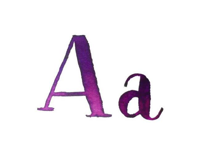 Letter Lovers buchstabenprinzessin: Handlettering A a