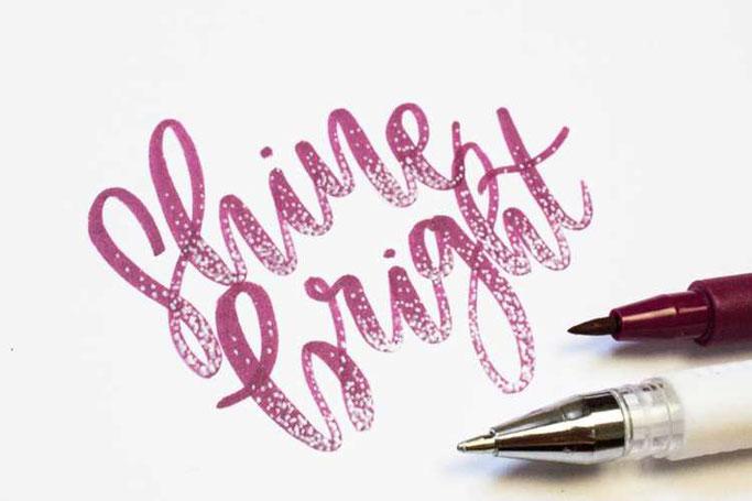 Letter Lovers Maedchenkunst: Handlettering Shine bright