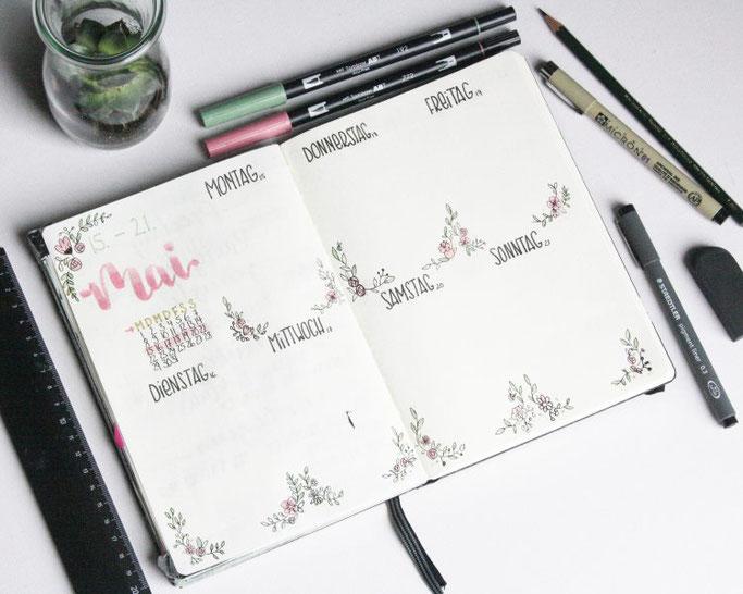 DIY Kalenderseite von frl.stucki - Lettering für die Letter Lovers