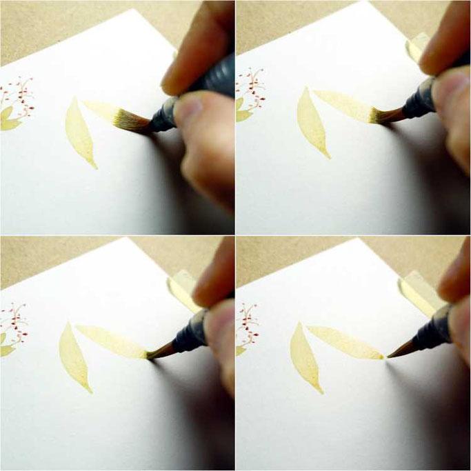 Letter Lovers buntgepinselt: Anleitung für lockere Aquarellblumen mit Blättern